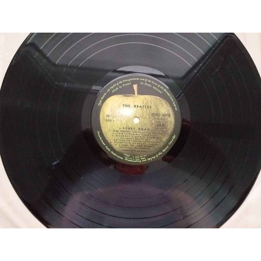 the beatles Abbey road (1969 French press on biem)