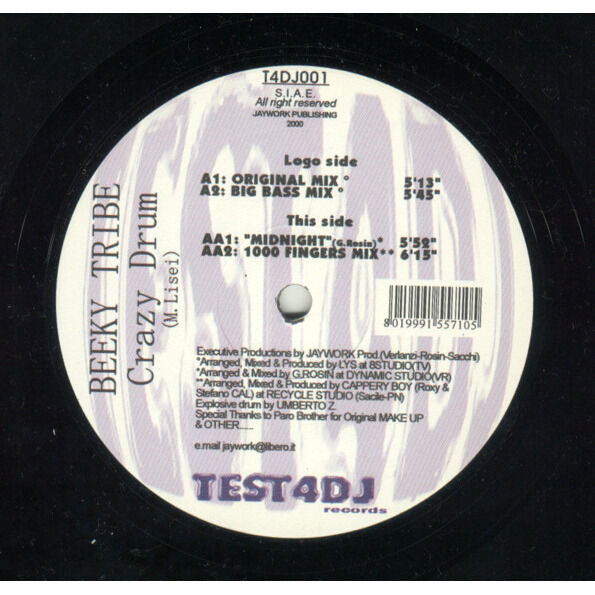 Beeky Tribe Crazy Drum ( 03 Mix ) / Midnight