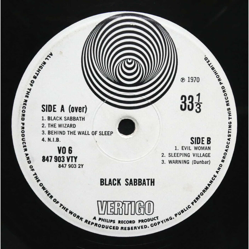 Black Sabbath Black Sabbath (Swirl label 1Y/2Y)