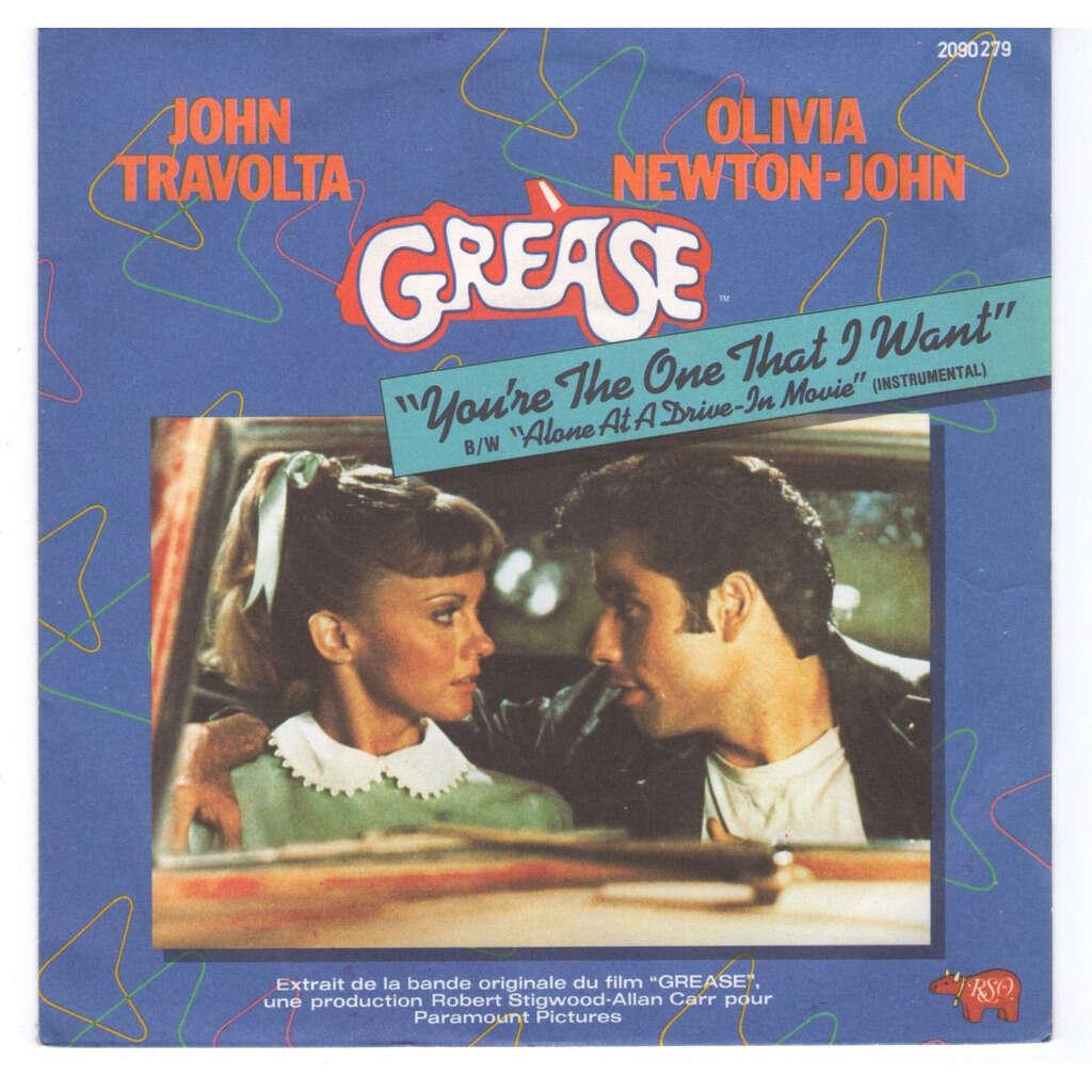 John Travolta Olivia Newton John You're the one that I want - brown injection label