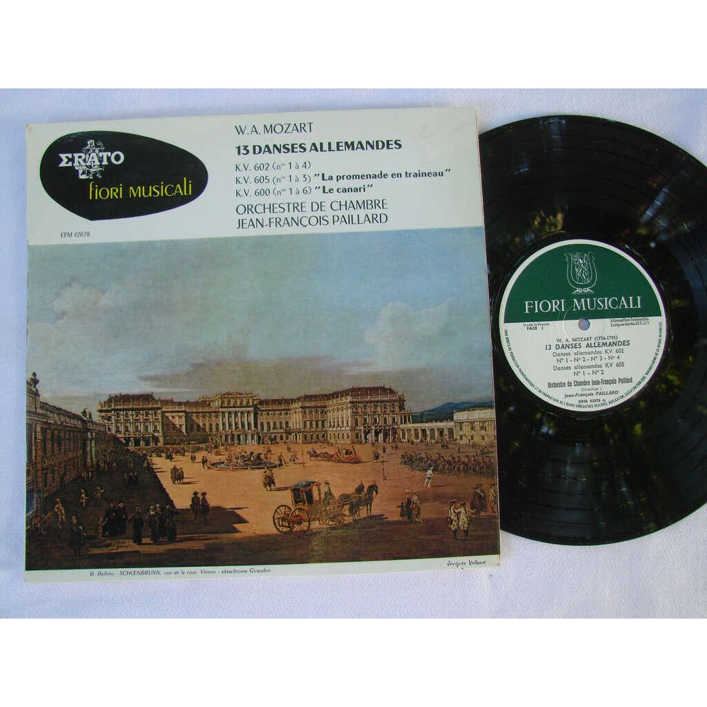 J.F Paillard Orchestre de chambre Mozart : 13 danses allemandes