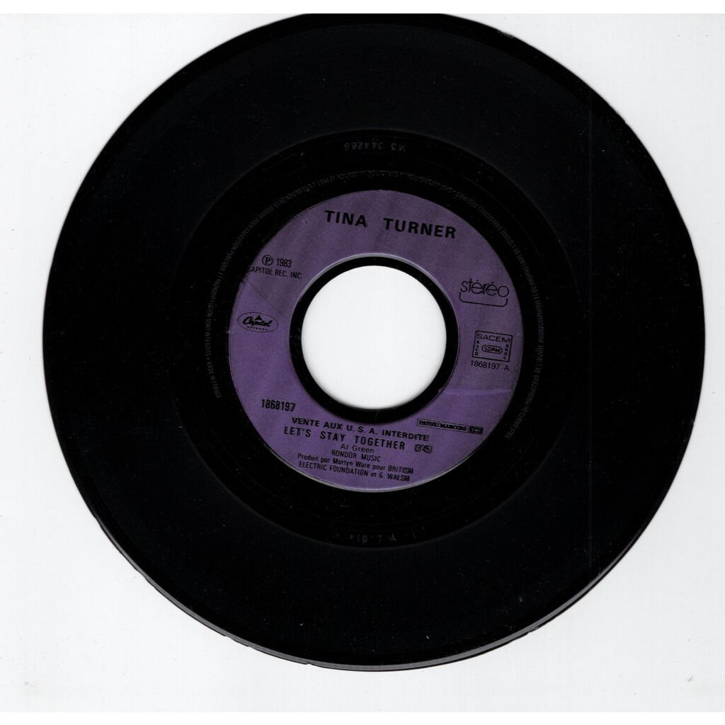 Tina Turner Let's stay together - purple injection label