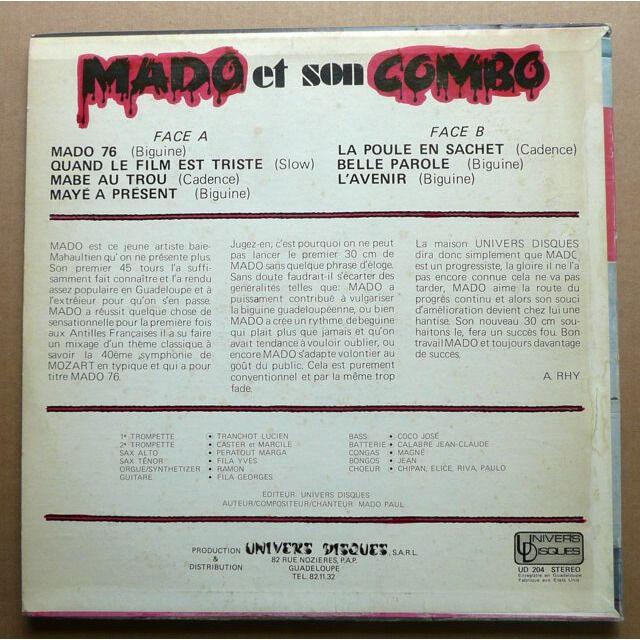 Mado et son Combo Mado 76 - Biguines Pour Nous