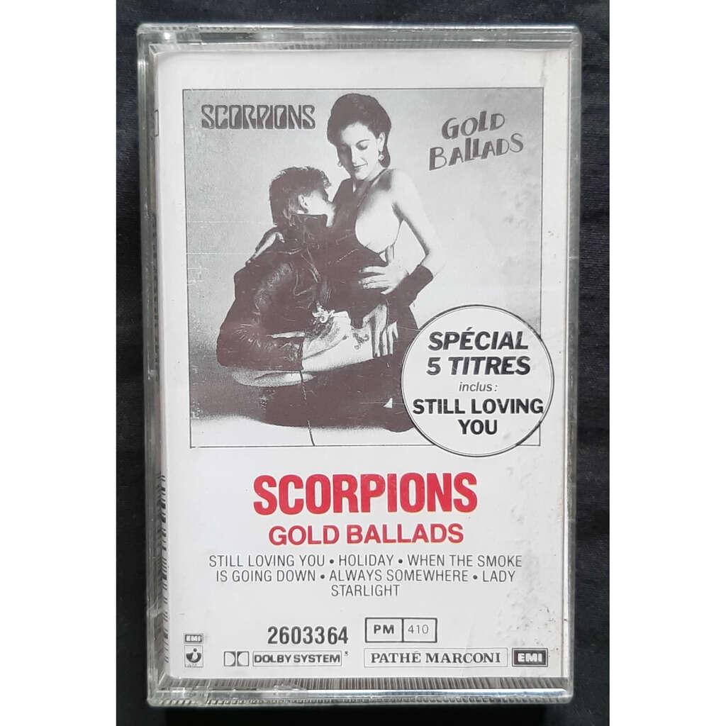 SCORPIONS GOLD BALLADS-Mini album cassette audio-Original-Emi-1984-Holland.
