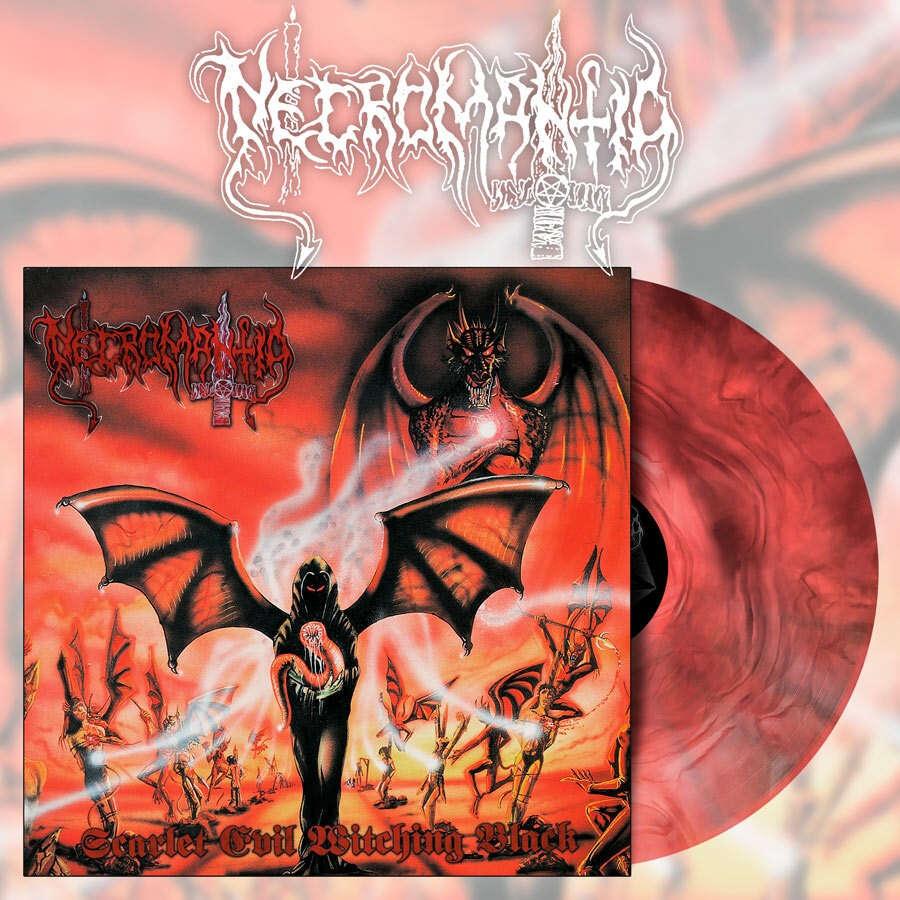 NECROMANTIA Scarlet Evil Witching Black. Red Marble Vinyl
