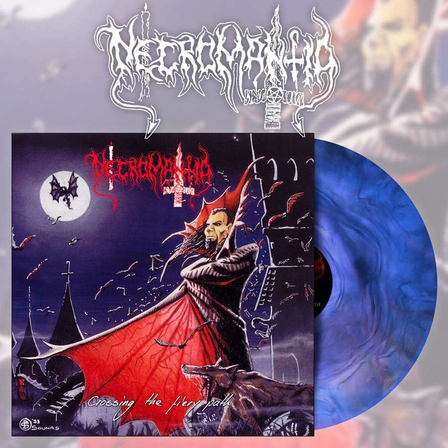 NECROMANTIA Crossing the Fiery Path. Blue Marble Vinyl