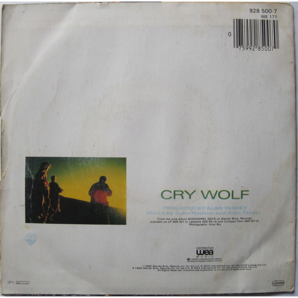 A-HA Cry wolf