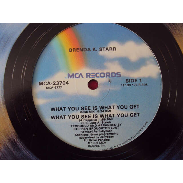 brenda k starr WHAT YOU SEE IS WHAT YOU GET 1986 USA