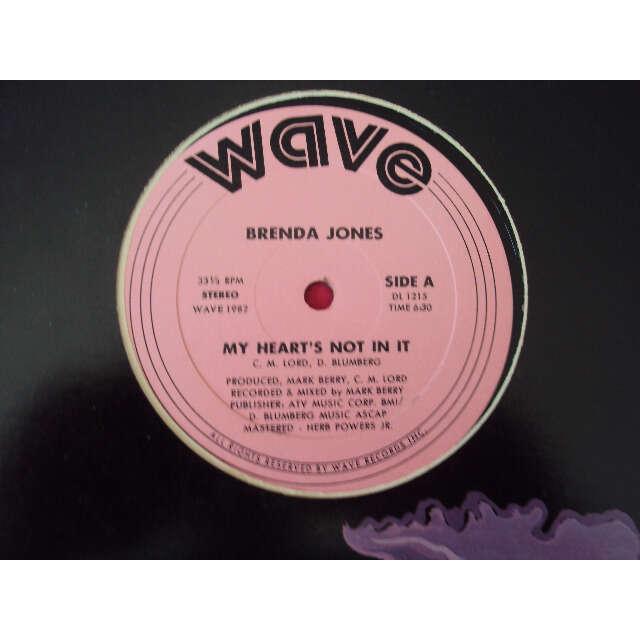 BRENDA JONES MY HEART'S NOT IN IT 1982 USA