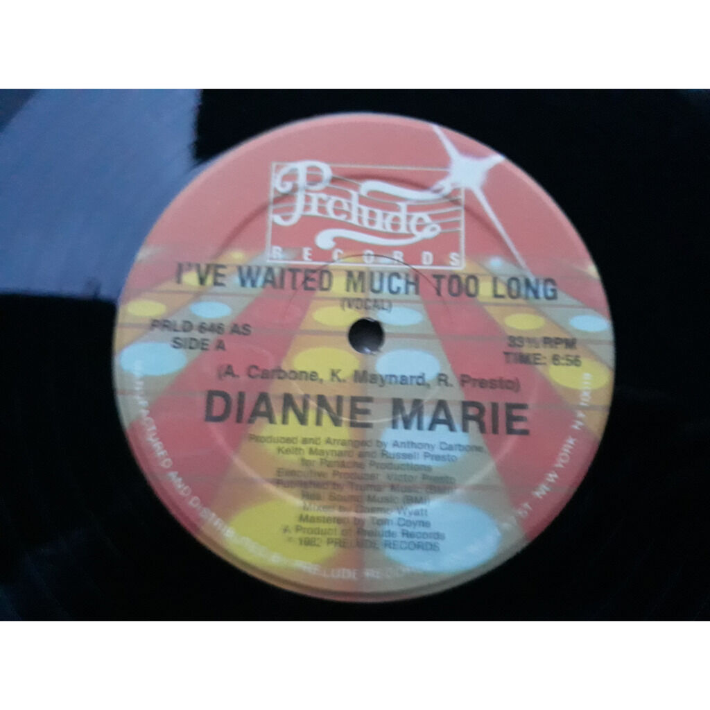 Dianne Marie I've Waited Much Too Long .1982.