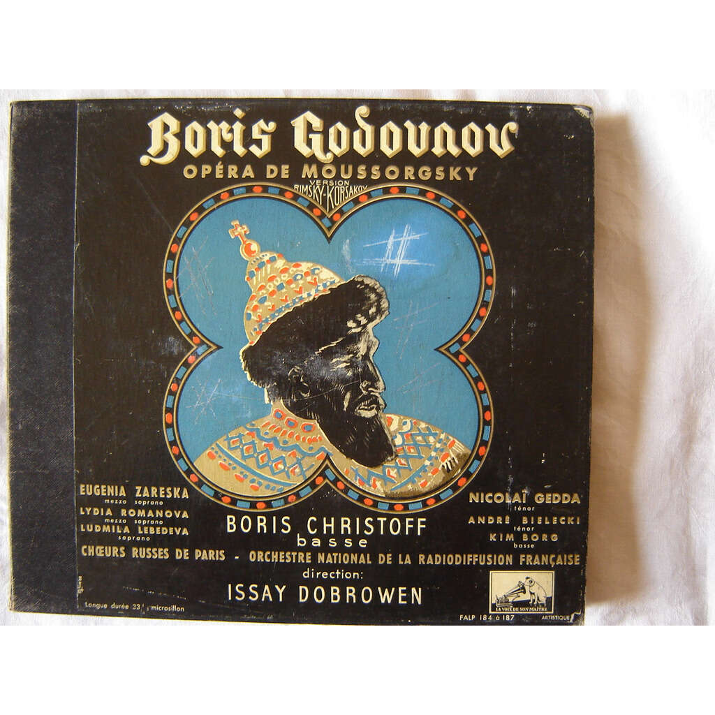 I.Dobrowen: O.Nat. Radio Française- press:1952 box Moussorgsky : Boris Godounov - Boris Christoff - N. Gedda - E. Zareska - Choeurs Russes de Paris -