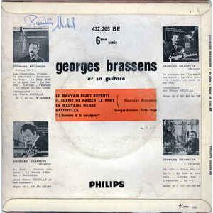 BRASSENS Georges LA MAUVAISE HERBE / GASTIBELZA / LE MAUVAIS SUJET REPENTI