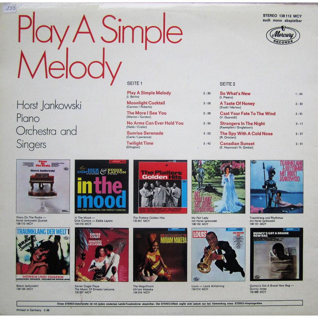 horst jankowski play a simple melody