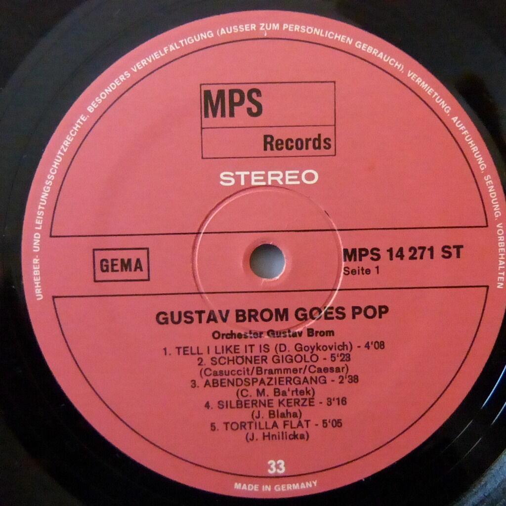 GUSTAV BROM GUSTAV BROM GOES POP
