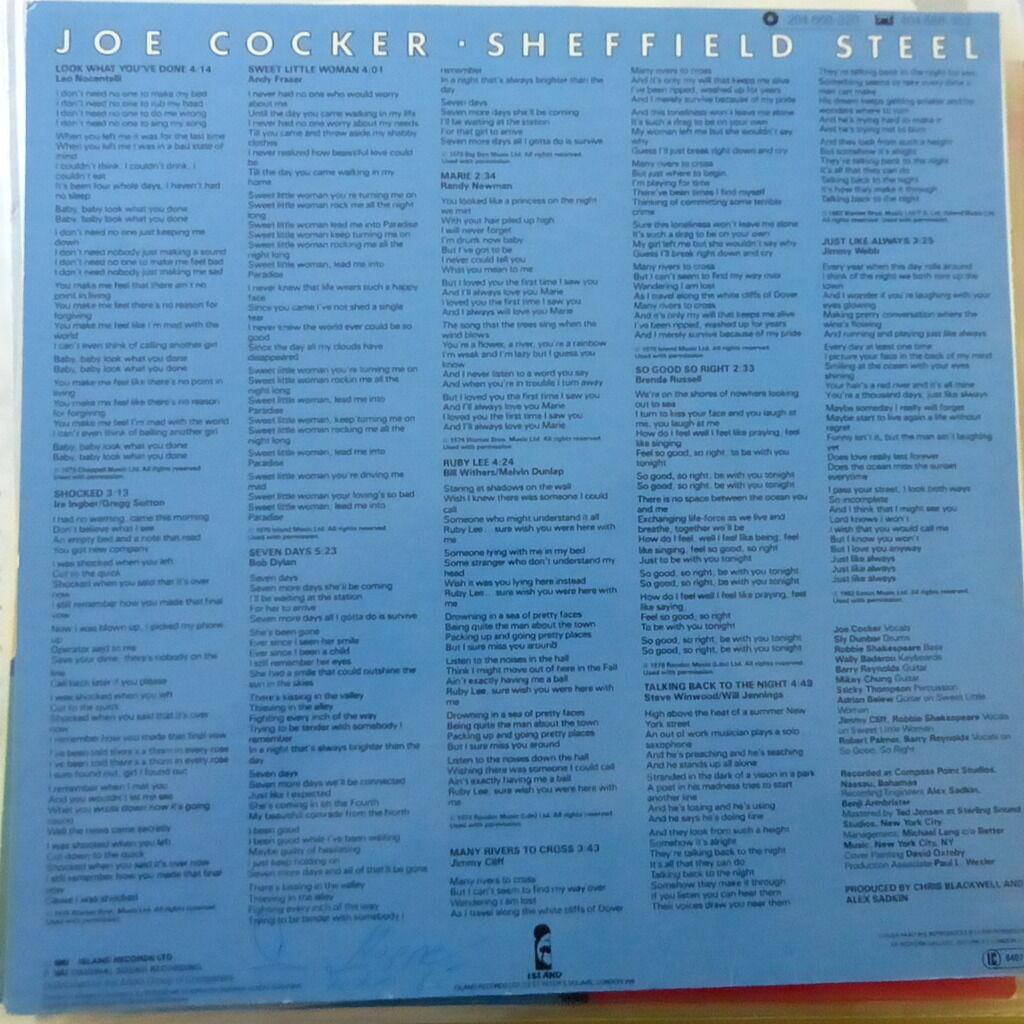 JOE COCKER SHEFFIELD STEEL