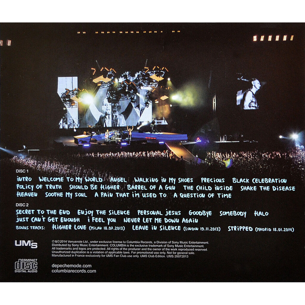 DEPECHE MODE Live at Roma Stadio Olimpico Italy 2013 Delta Machine Tour 2CD
