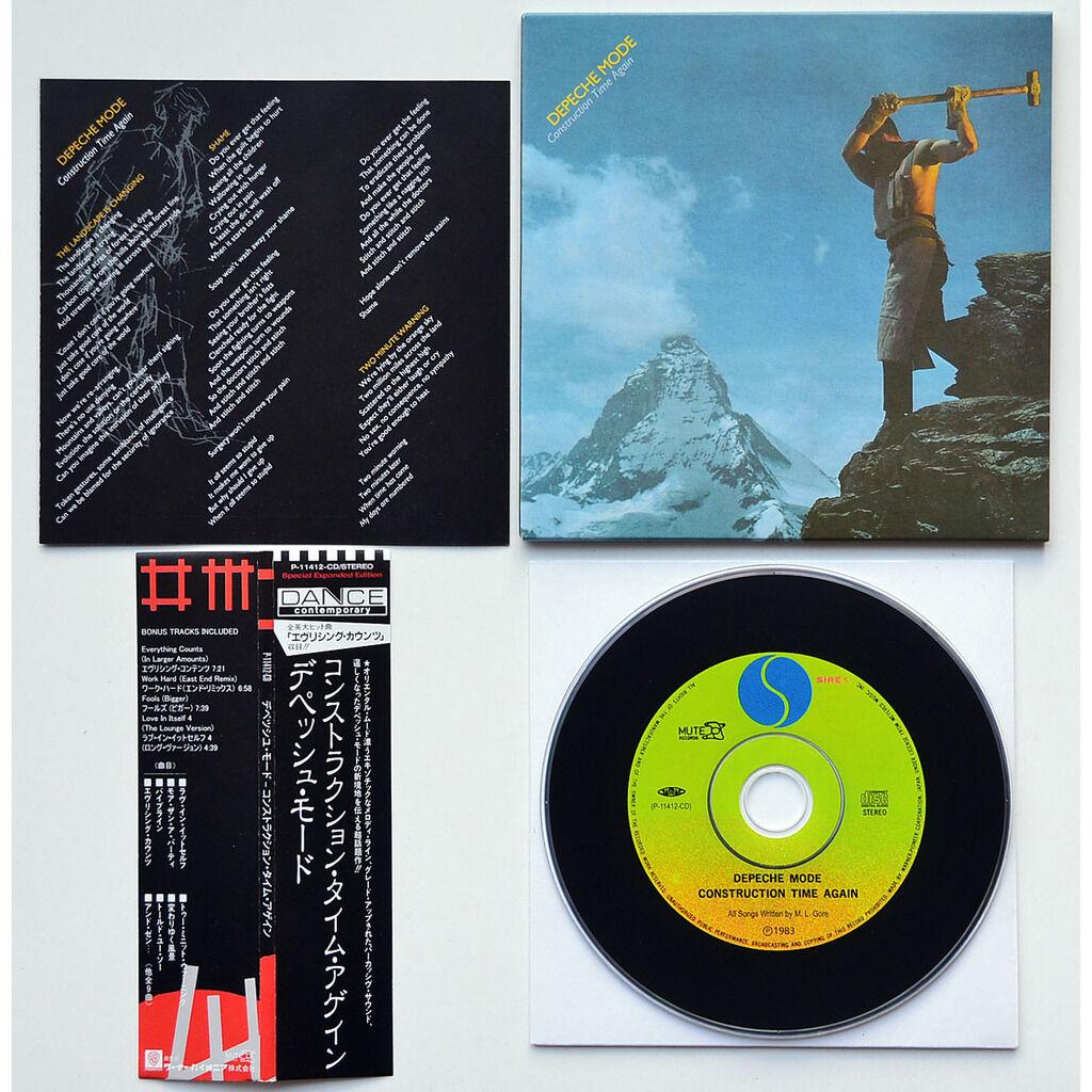 DEPECHE MODE Construction Time Again Bonus Remixes CD Mini-LP Cardsleeve Japan OBI