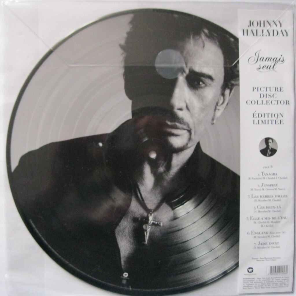 JOHNNY HALLYDAY Jamais seul ( limited: collector picture disc edition )
