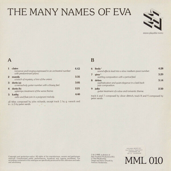 Various The Many Names Of Eva