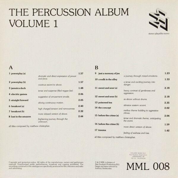 Matthew Christopher The Percussion Album Volume 1