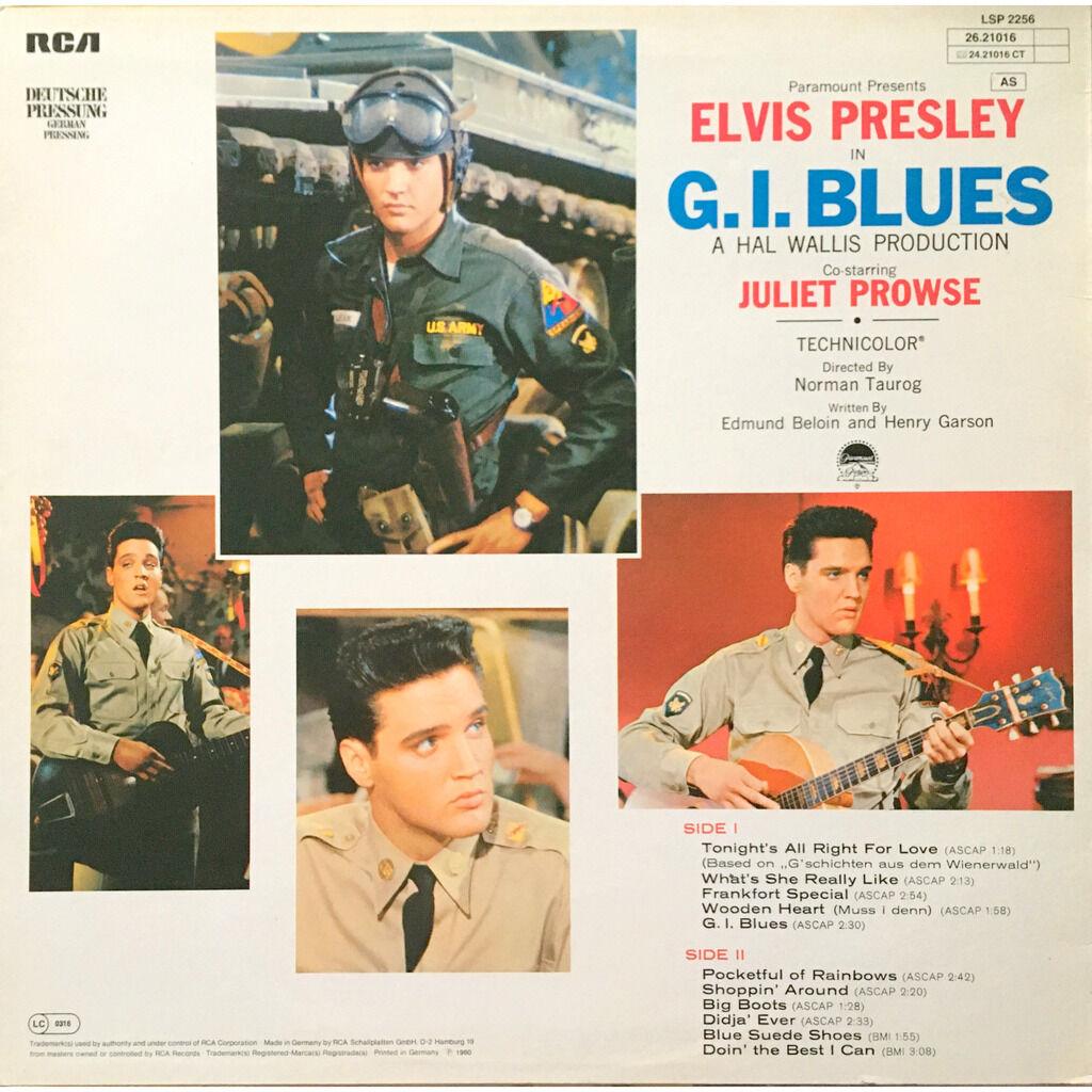 ELVIS PRESLEY - G.I. BLUES (GER. PRESSING 12 VINYL LP YELLOW RCA LBL)