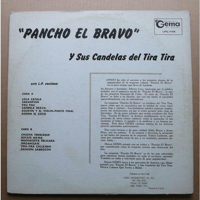 Pancho El Bravo Y Sus Candelas Del Tira Tira Charangas, Pachangas Y Danzones