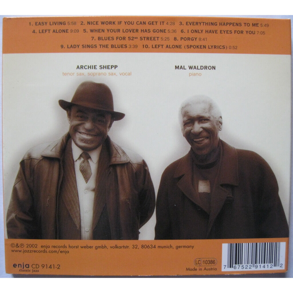 Archie Shepp & Mal Waldron Left Alone Revisited