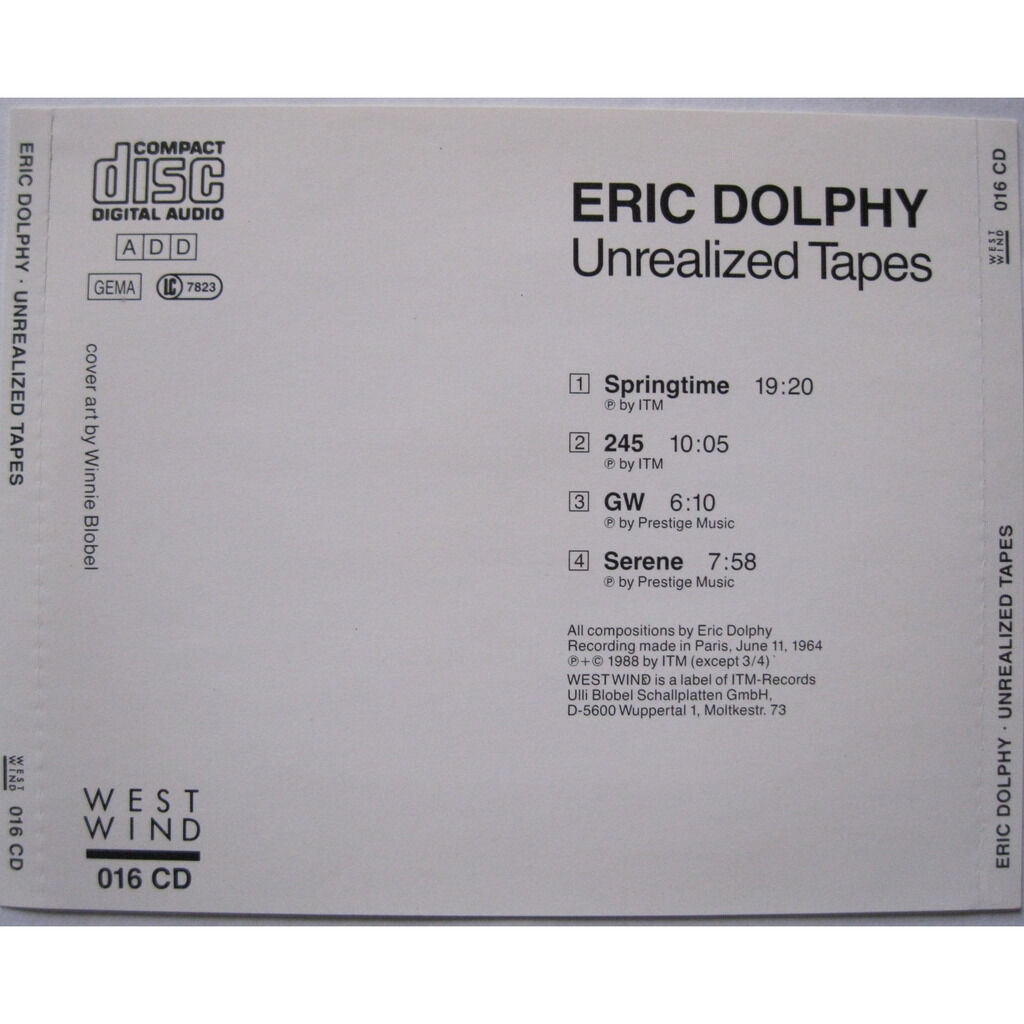 ERIC DOLPHY Unrealized tapes