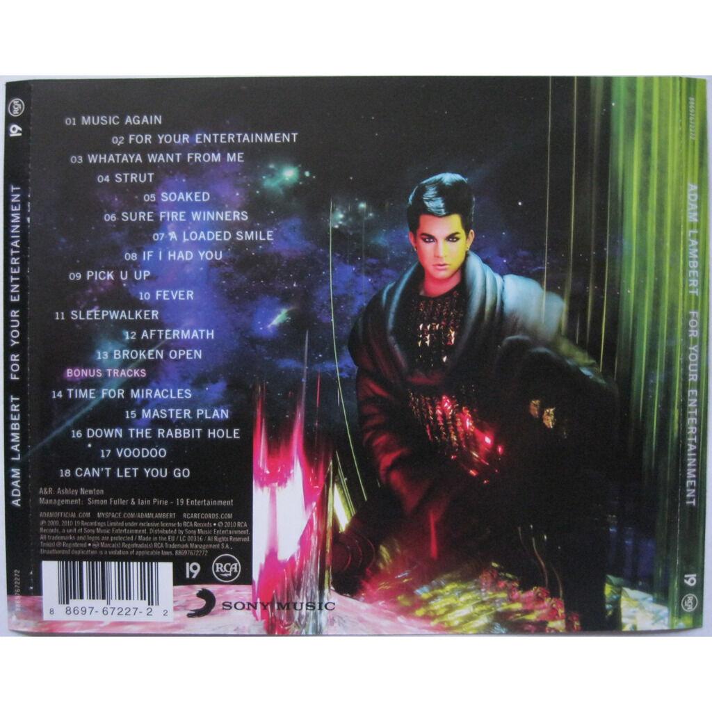 ADAM LAMBERT ( QUEEN ) For your entertainment ( + 5 bonus tracks )
