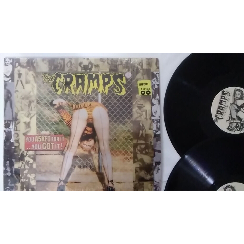 THE CRAMPS LIVE EUROPE 1990 DOBLE LP SET ( IN SHRINK WITH HYPE STICKER AND UNPLAYED)