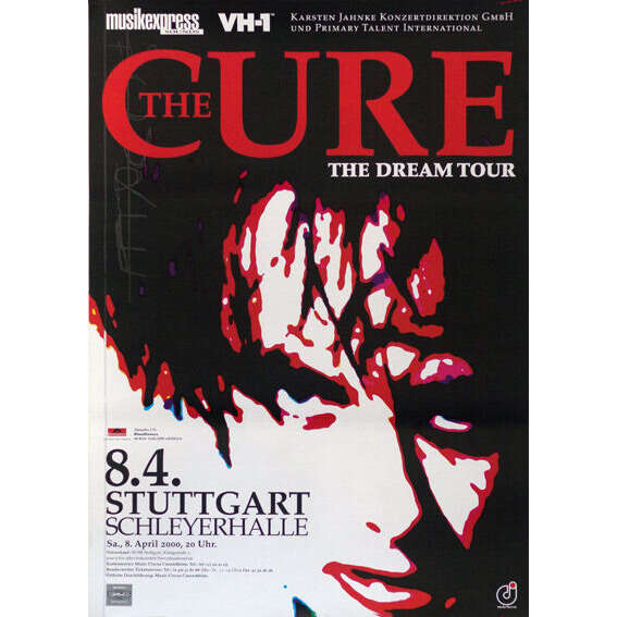 THE CURE ORIG.CONCERT POSTER IN STUTTGART/GERMANY (BLOODFLOWERS TOUR! / 8TH APRIL 2000)