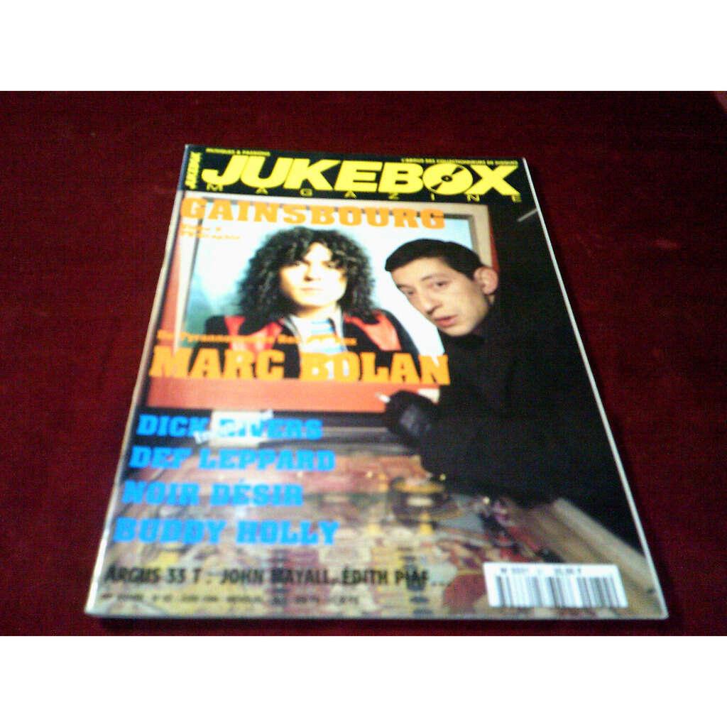 serge gainsbourg / marc bolan JUKEBOX MAGAZINE N°82 (juin 1994) T.REX ,SERGE GAINSBOURG , JOHNNY HALLYDAY ...