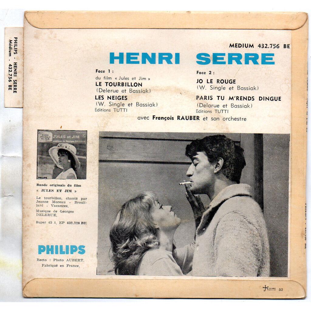 Henri SERRE Le Tourbillon /Les Neiges/Jo Le Rouge/Paris Tu M'Rends Dingue