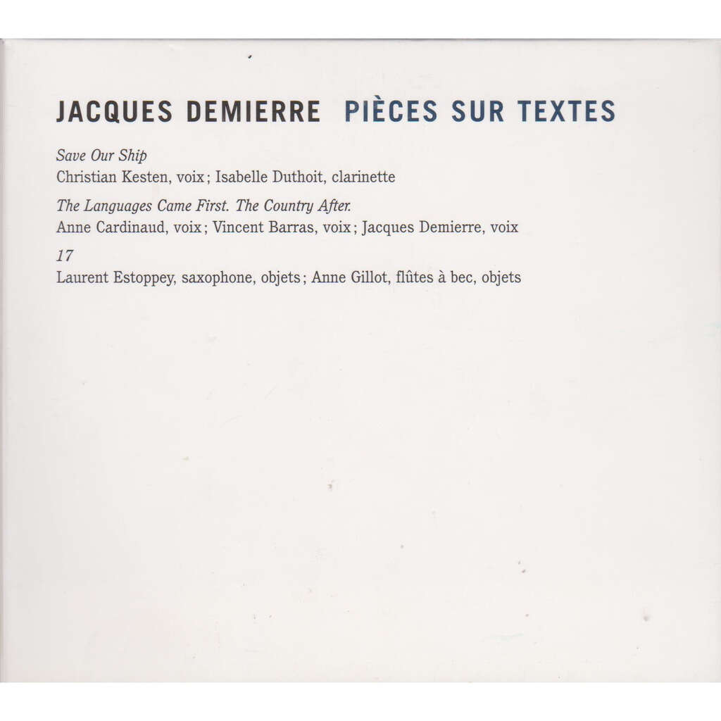 jacques demierre save our ship, the languages came first the country after, 17