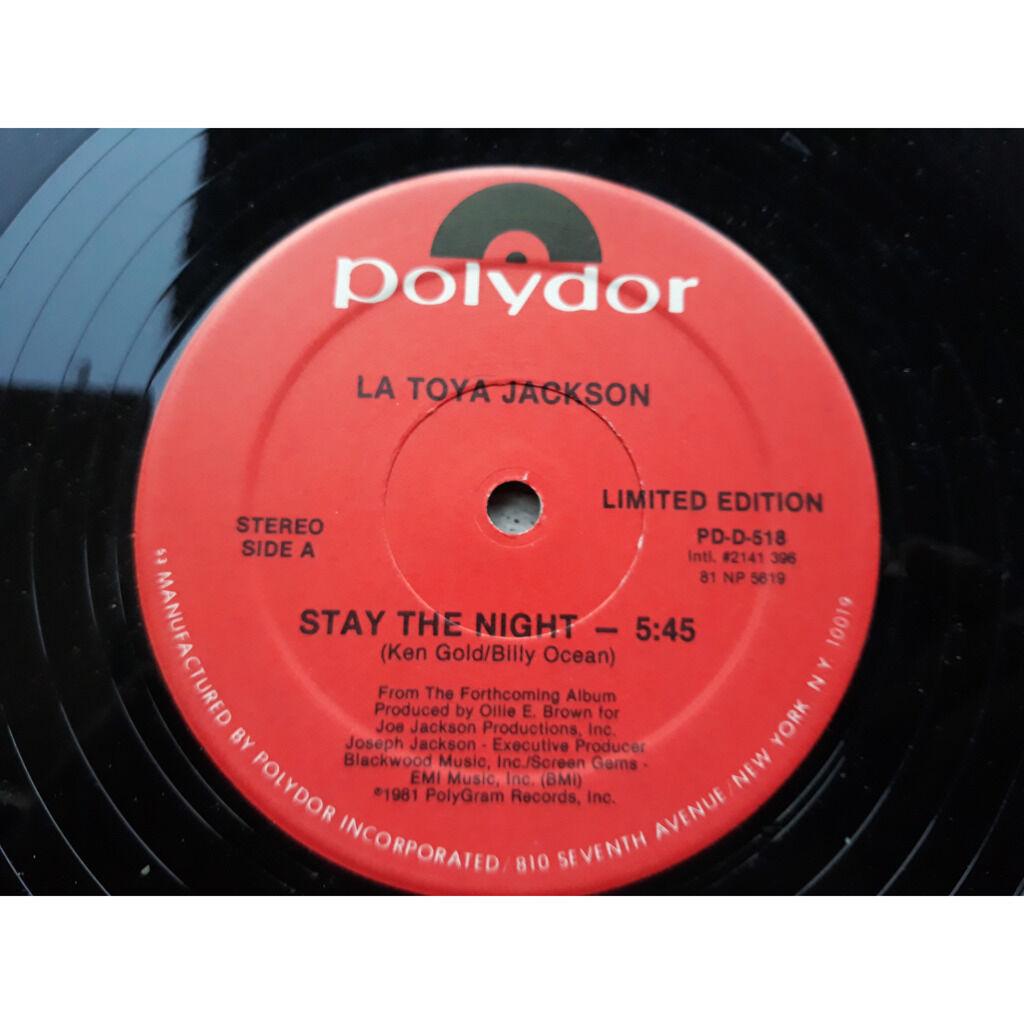 La Toya Jackson Stay The Night / Camp Kuchi Kaiai.1981.