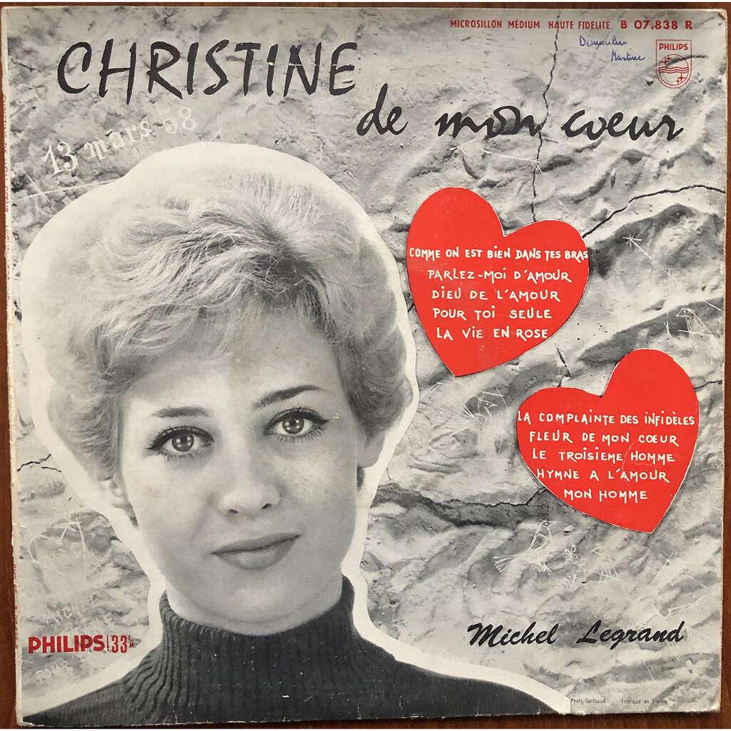 MICHEL LEGRAND ET SON ORCHESTRE Christine de mon Cœur