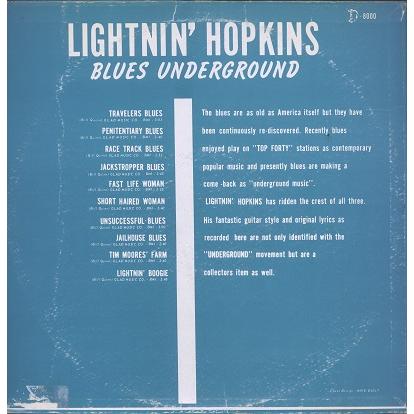 Lightnin' Hopkins Blues Underground