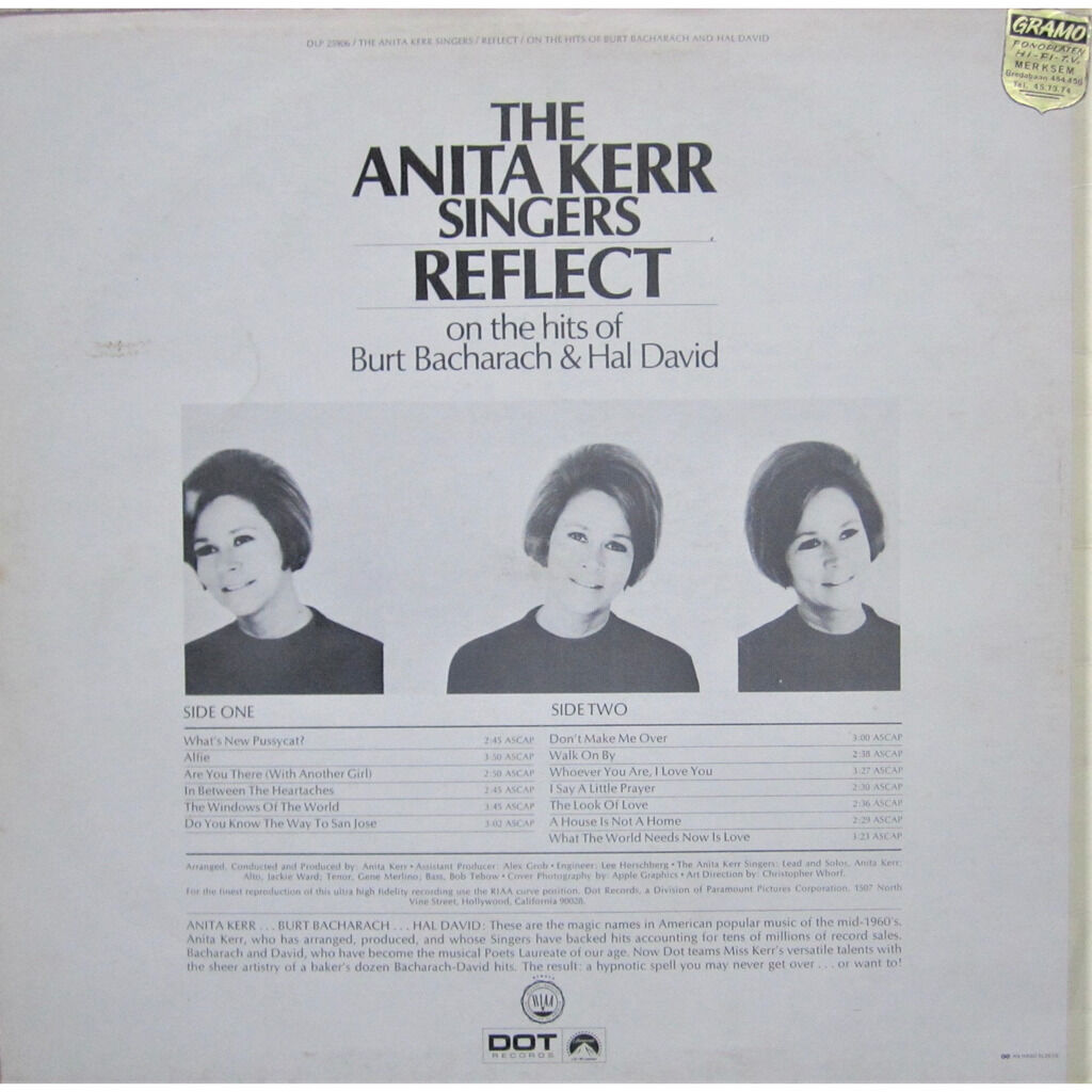 anita kerr singers reflect on the hits of burt bacharach & hal david