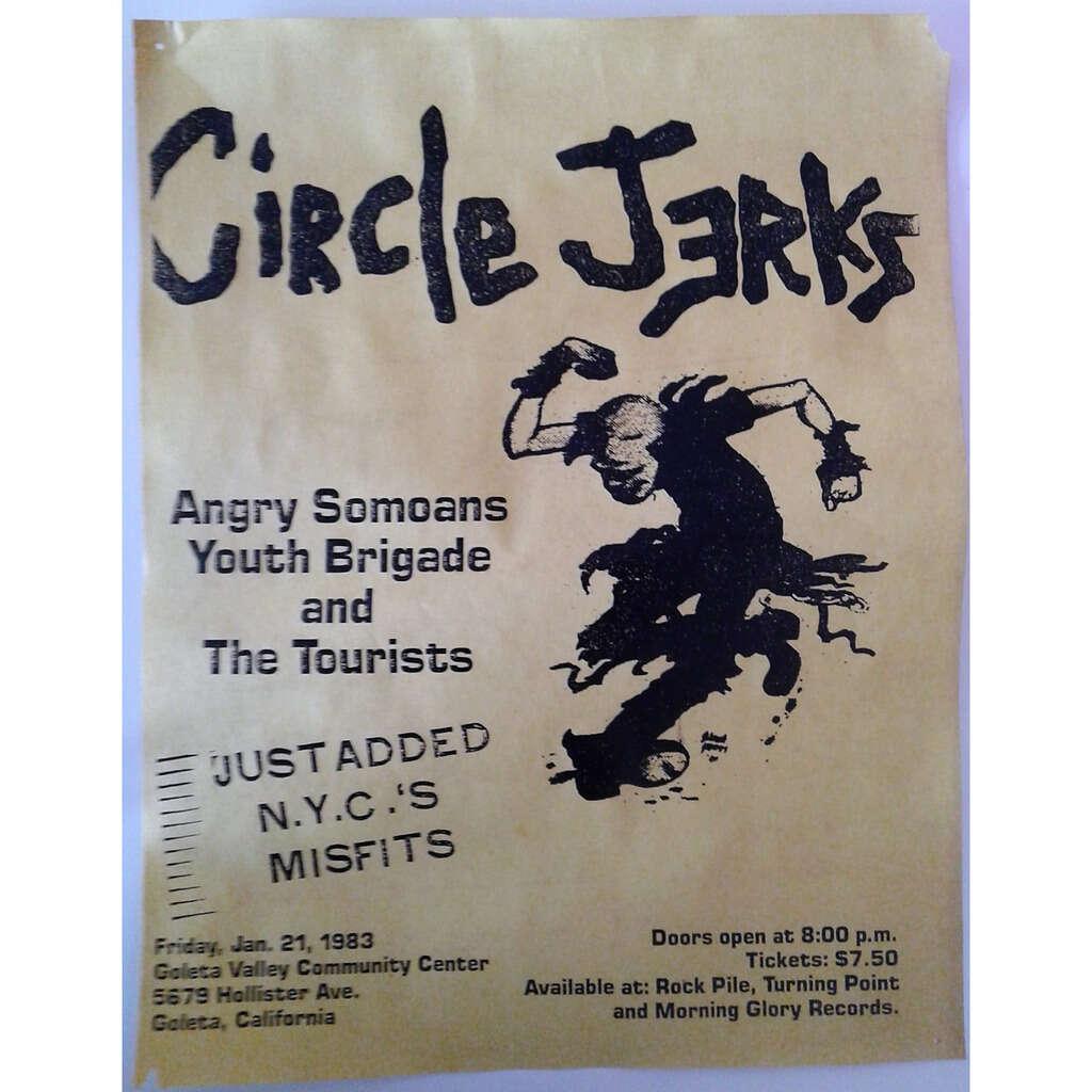 Circle Jerks / Angry Samoans / Youth Brigade Goleta Valley Community Center 21.01.1983 (USA 1983 original promo concert poster punk flyer!!)