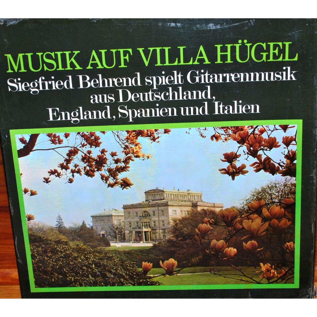 MUSIK AUF VILLA HÜGEL Gitarrenmusik aus Deutschland , England , Spanien und Italien