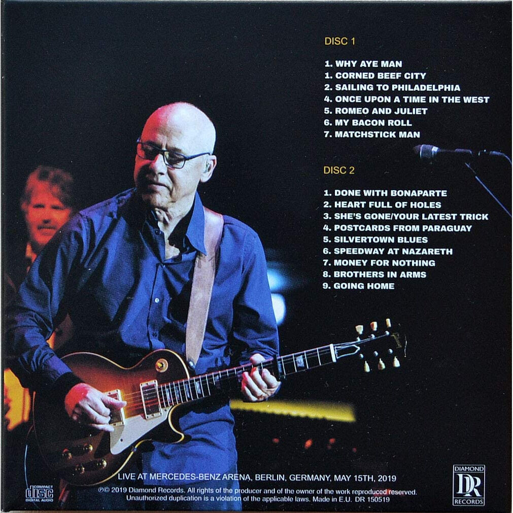 mark knopfler Live In Berlin Germany 15 May 2019 Down The Road Wherever Tour 2CD Digipak