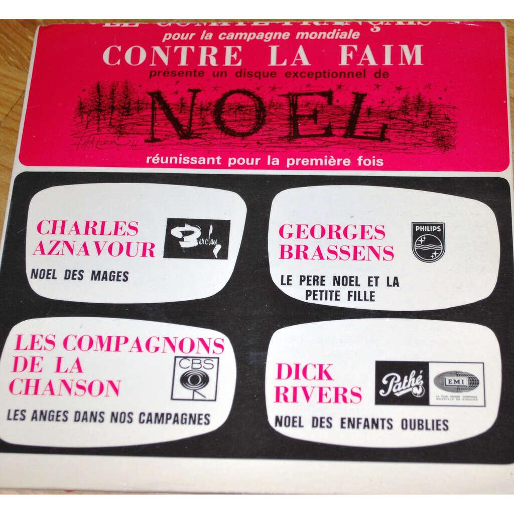 Various artists Contre la faim à Noël ( AZNAVOUR/BRASSENS/D.RIVERS/LES COMPAGNONS...