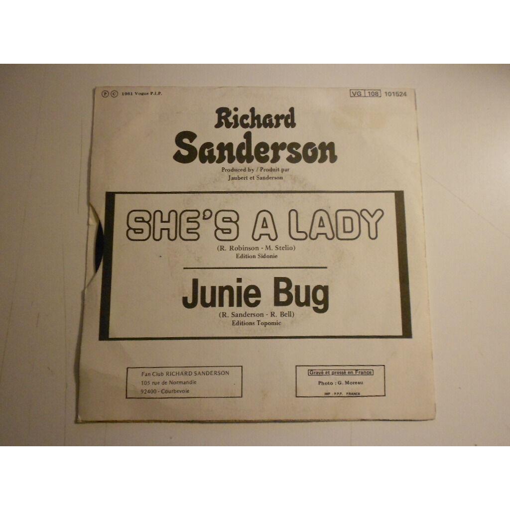 richard sanderson she's a lady § junie bug