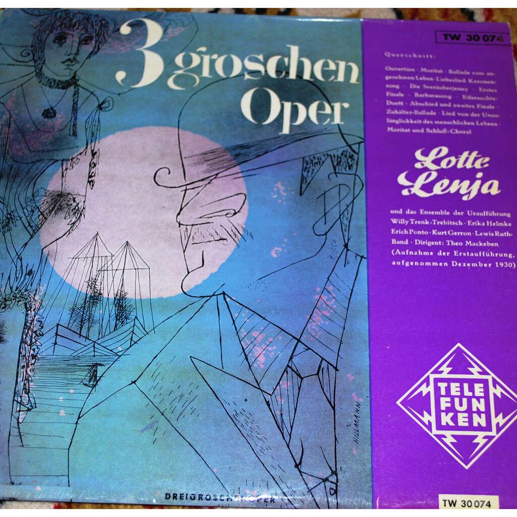 LENJA Lotte Drei grossen Oper ( BRECHT/WEILL )