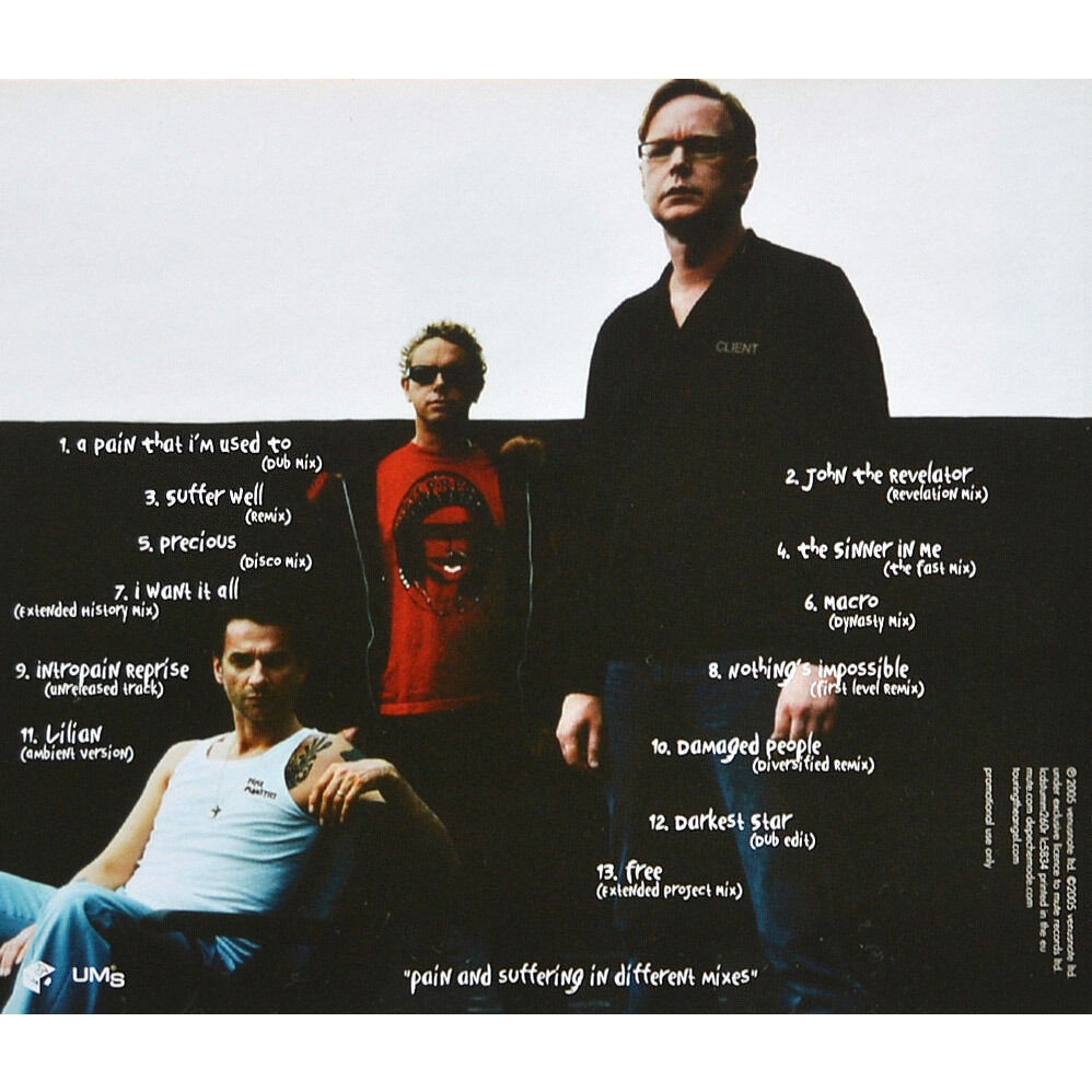 DEPECHE MODE Playing The Angel Remixes vol.2 2005 CD