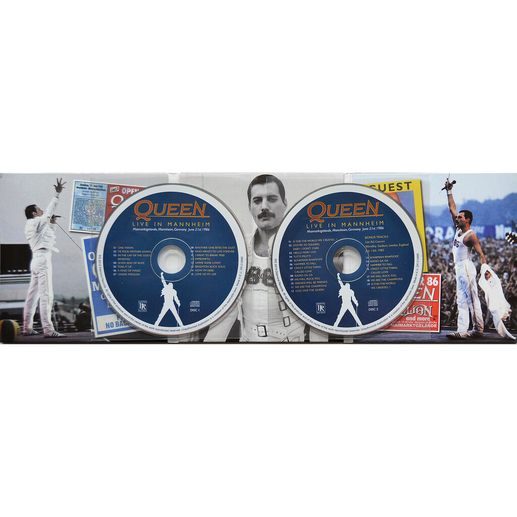 queen (Freddie Mercury) Live In Mannheim Germany 21 June 1986 The Magic Tour bonus 2CD digisleeve