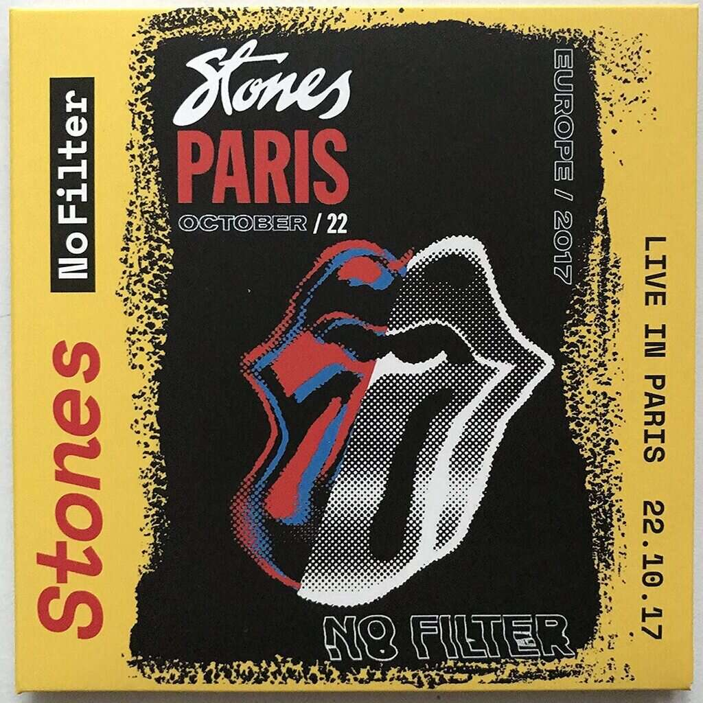 THE ROLLING STONES Live In Paris France 22 October 2017 No Filter Tour 2CD Digisleeve