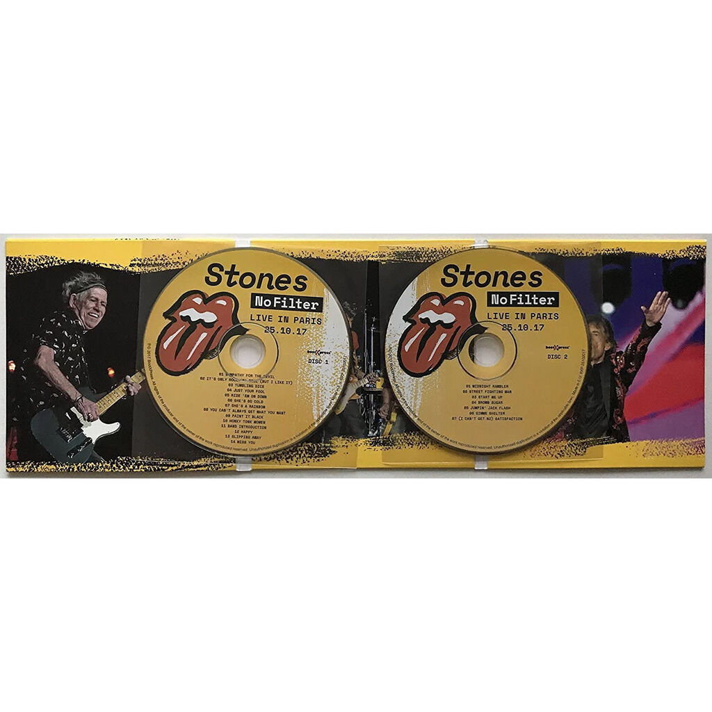 THE ROLLING STONES Live In Paris France 25 October 2017 No Filter Tour 2CD Digisleeve