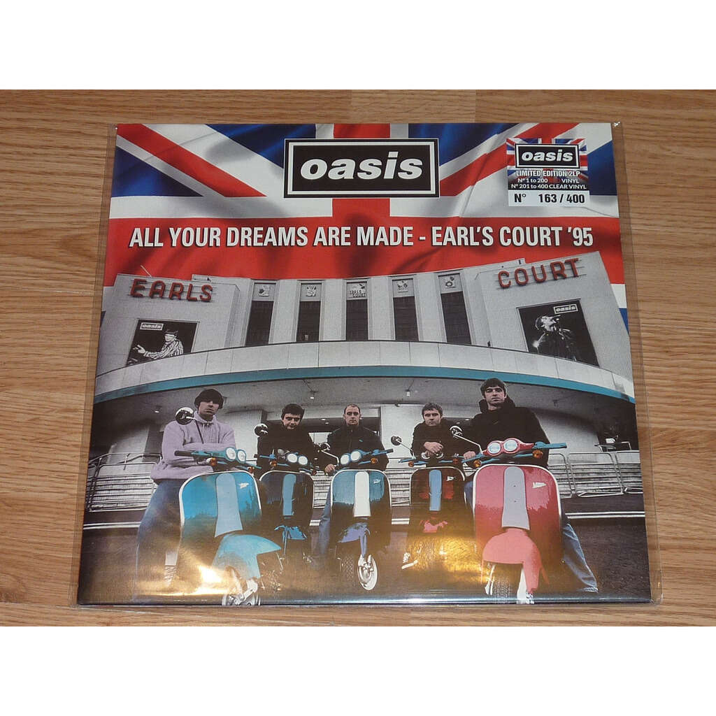 OASIS ALL YOUR DREAMS ARE MADE - EARL'S COURT '95 2LP RED