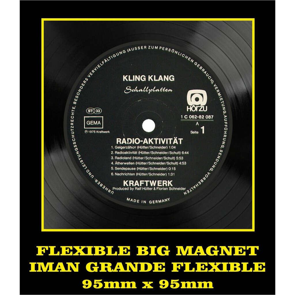 Kraftwerk Radio-Aktivität LABEL FLEXIBLE BIG MAGNET IMÁN GRANDE AIMANT